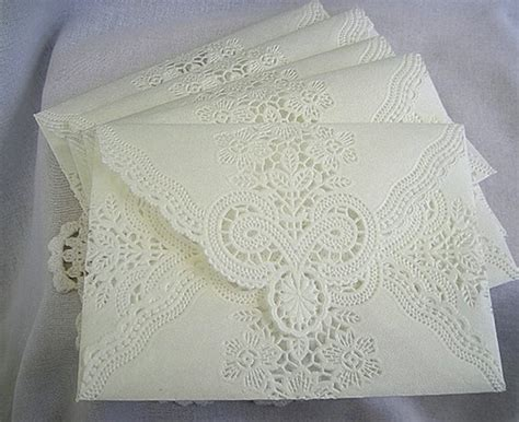 Wedding Invitations Handmade Paper by Vintage Paper White Wedding Lace Invitations Paper