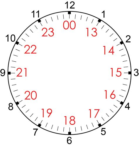 search results for printable 24 hour clock template