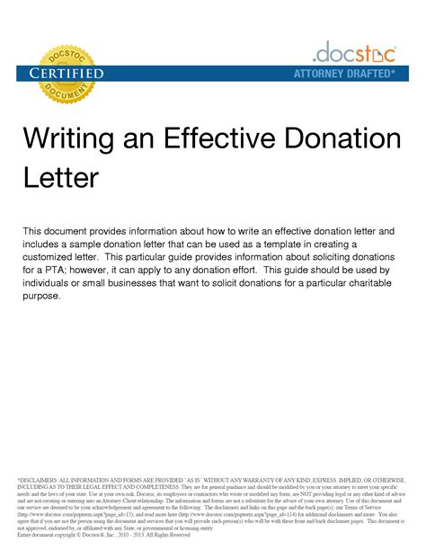 writing effective donation letter donation request