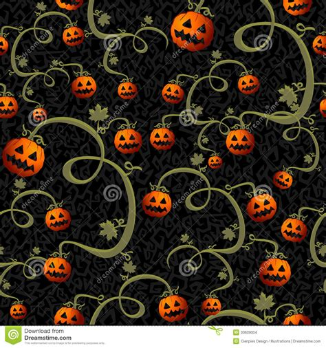 Halloween Pumpkins Designs - halloween spooky pumpkins seamless pattern background eps10 file stock images image 33609004