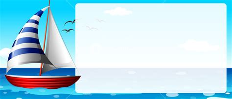 boat border clipart border design with sailboat illustration royalty free