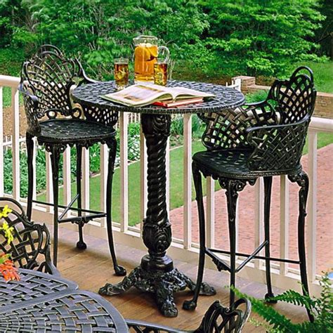 Patio Furniture Pub Table Sets Basket Weave Patio Bar Set Traditional Outdoor Pub And Bistro Sets Atlanta By Iron Accents