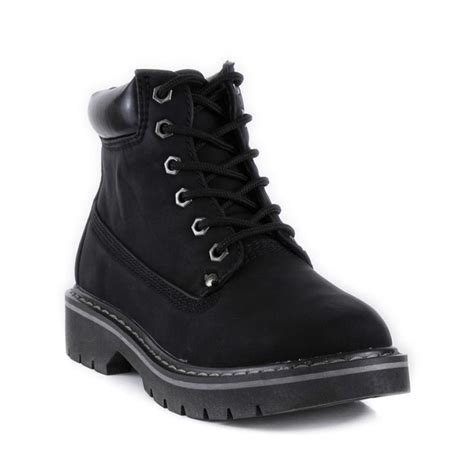 black boot zone womens lace up ankle boot in black sizes 3 4 5 6 7