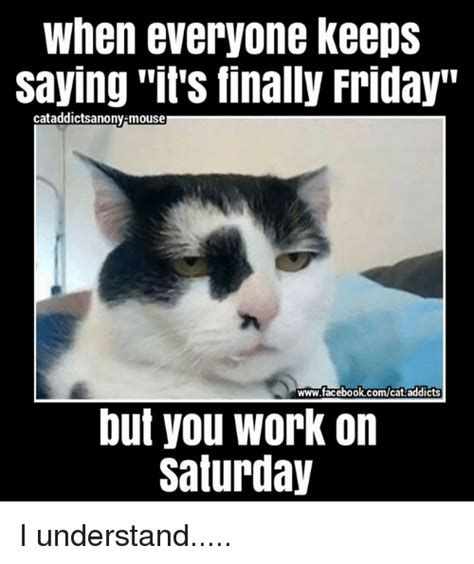 It S Saturday Meme - when everyone keeps saying its finally friday