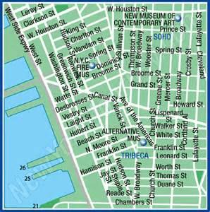 Soho New York Map by Soho Tribeca New York Map Area Maps Of New York City