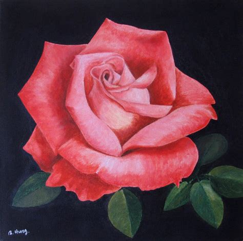 acrylic painting roses acrylic painting photo betty hung photos at pbase