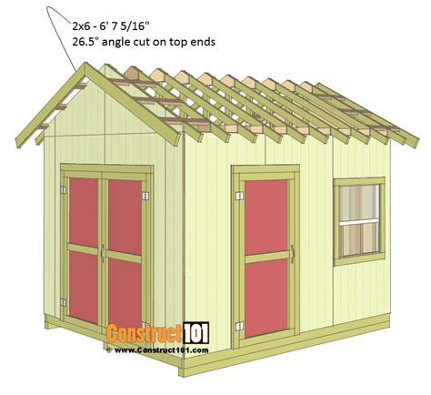 Shed Plans 10 X 12 by Shed Plans 10x12 Gable Shed Step By Step Construct101