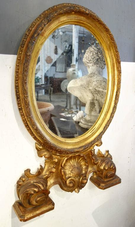 Mercury Baroque Made In Italy by 19th Century Antique Italian Baroque Style Oval Gold