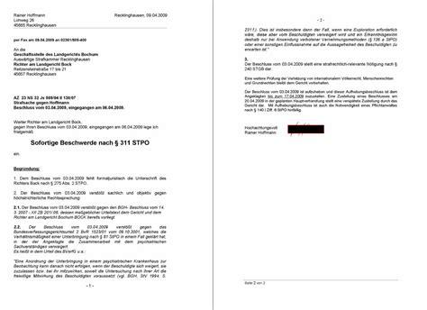 Beschwerdebrief Gegen Nachbarn Schreiben Aktenvermerk Vom 22 02 2008 Eines Bochumer Richters Angebliche Querulanz K 246 Nnte Erblich Sein