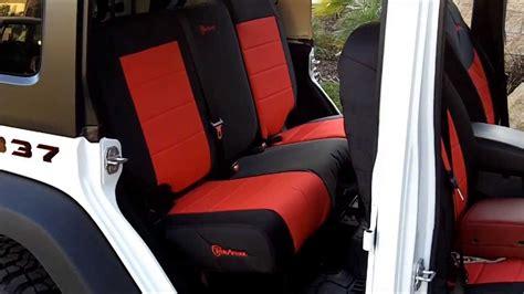 jeep wrangler unlimited seat covers 2013 trek armor seat cover installs on 2013 jeep wrangler