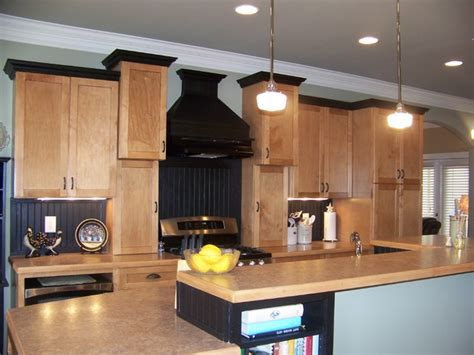 trim for kitchen cabinets maple kitchen black trim craftsman