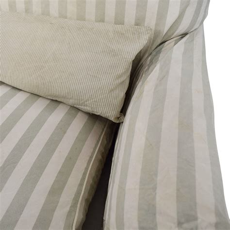 green and white striped sofa 90 green and white striped roll arm sofa