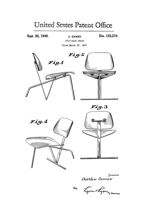 office blueprint eames chair patent print chair patent furniture patent