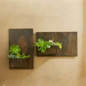 Indoor Wall Planter by Metal Planter Wall Art Contemporary Indoor Pots And