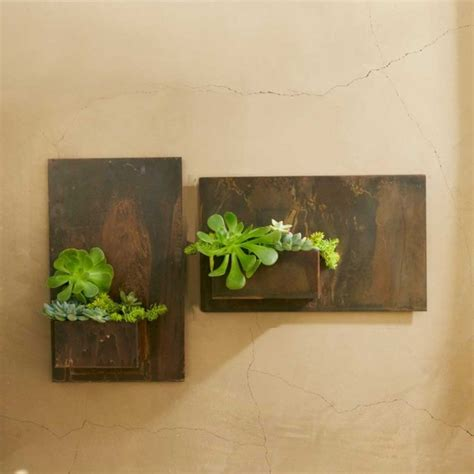 metal wall planters metal planter wall contemporary indoor pots and