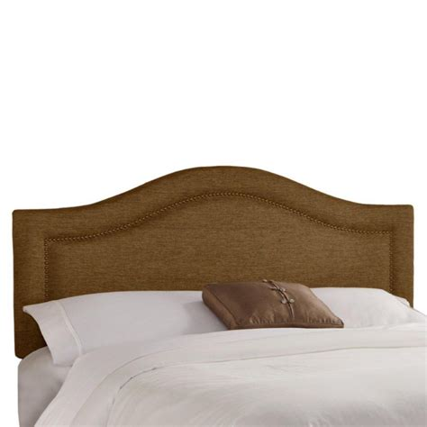 button headboard skyline furniture king nail button notched headboard in