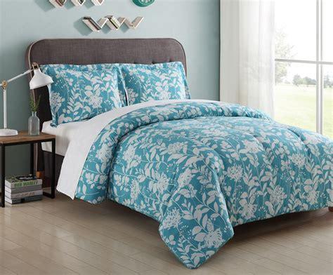 microfiber comforter sets essential home microfiber comforter set turquoise floral