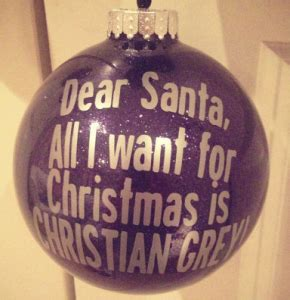 all i want for christmas is christian grey ornament