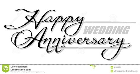 a dark wedding font happy wedding anniversary stock image cartoondealer