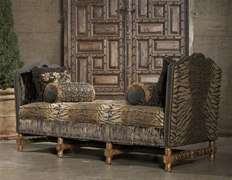 Upscale Furniture by Paul Robert Crowleigh Chaise Daybed Animal Print Hide Furniture Birthdays