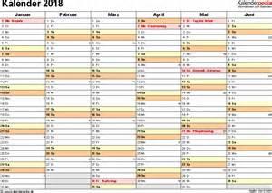 Kalender 2018 Zum Ausdrucken Din A6 Kalender 2018 Zum Ausdrucken In Excel 16 Vorlagen