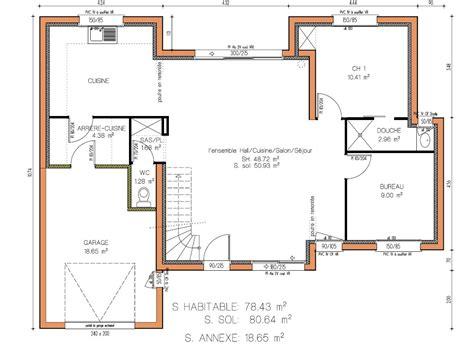 idée maison plain pied 3477 cuisine plan maison moderne plain pied gratuitjpg 195 plans