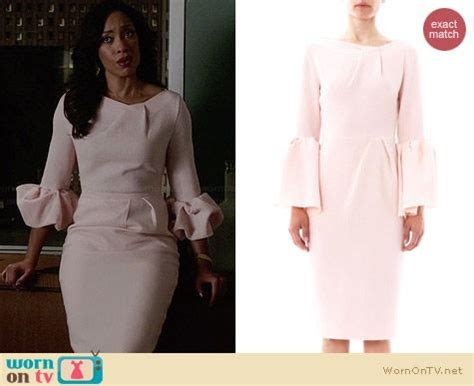 Torres Suits Wardrobe by Wornontv S Pink Ruffled Sleeve Dress On Suits