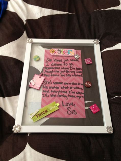 Cute birthday gift idea for my sister:)   Cute   Pinterest