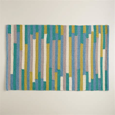 blue and green striped rug 2 x3 blue and green stripe reversible indoor outdoor rug world market