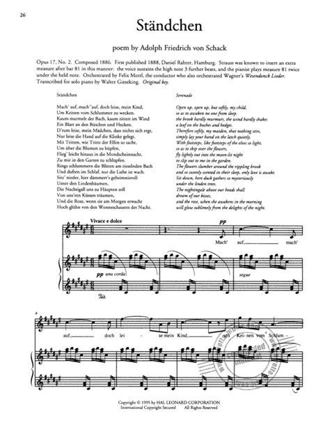 40 Songs Von Richard Strauss Im Stretta Noten Shop Kaufen