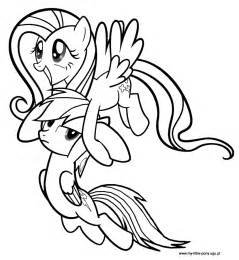 My Little Pony Rainbow Dash Fluttershy Sketch Coloring Page sketch template