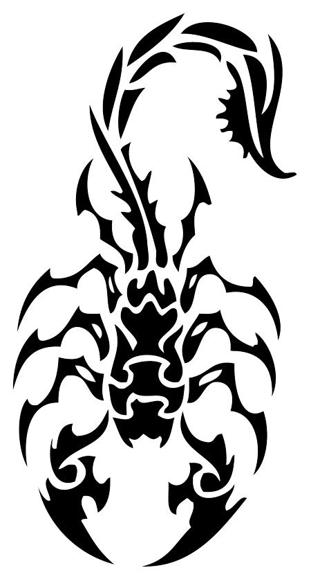 tribal like tattoos scorpion design lawas