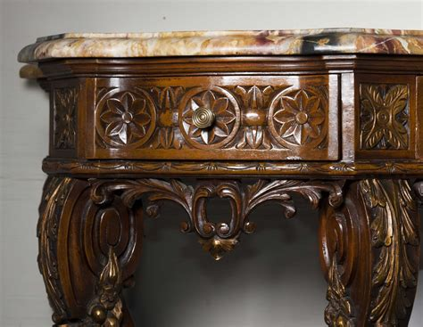stone top console table continental marble top console table