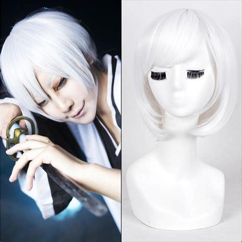 haircut and bleach in china 30cm white short straight haircut anime bleach ichimaru