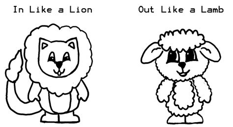 lion and lamb colouring pages