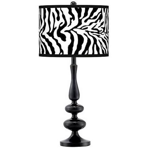 zebra pattern l shade safari zebra modern gloss black base table l n5714