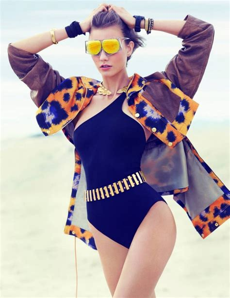 swimwear fashion gone rogue swimsuit clad karlie kloss poses for miguel reveriego in