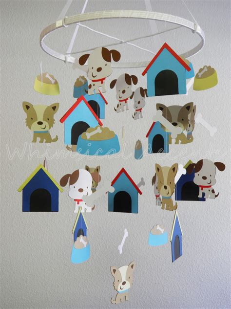 puppy mobile puppy and bone baby paper nursery mobile on luulla