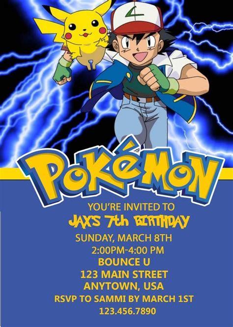 pikachu birthday card template birthday invitation orderecigsjuice info