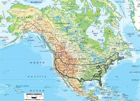 n america map n america