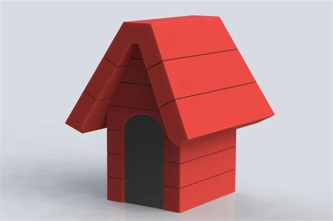 snoopy s house snoopy s house solidworks 3d cad model grabcad