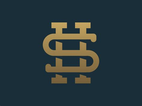 design a monogram logo sh monogram by jay master dribbble