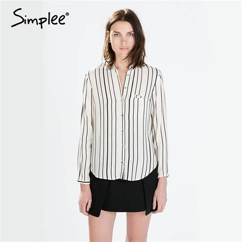Striped Sleeve Blouse white striped blouse fashion ql