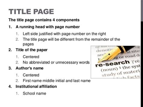 Title Page Apa Driverlayer Search Engine Apa Format For Powerpoint