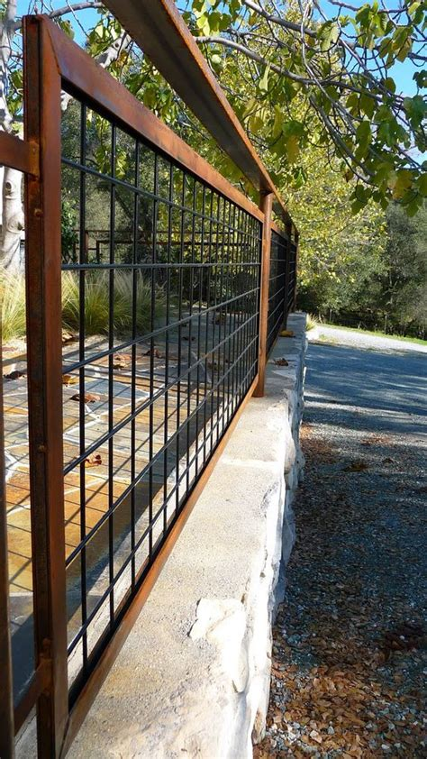 hog wire fence living iron hog wire fencing with patina landscape design fencing will it keep out deer