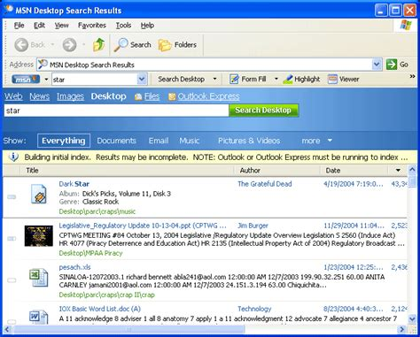 Free Msn Search Msn Desktop Search Debuts Pcworld