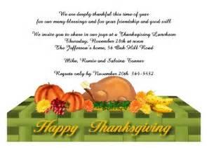 thanksgiving invitation 2454cs tg