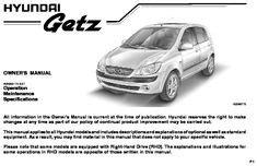 2008 Hyundai Getz Owner S Manual Pdf 383 Pages