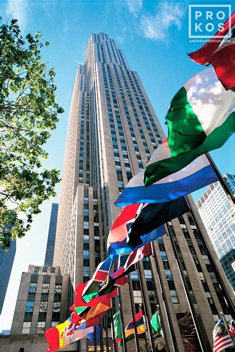 flags of the world new york city view of rockefeller center ii fine art photo by andrew