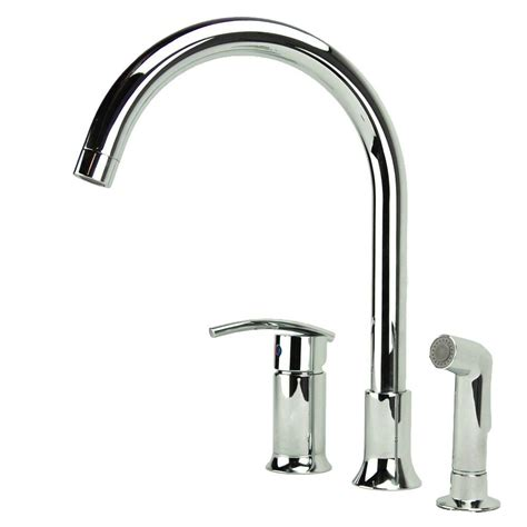 Kitchen Faucet With Side Spray Fontaine Vincennes Single Handle Standard Kitchen Faucet With Side Sprayer In Chrome Mff Vcnk3